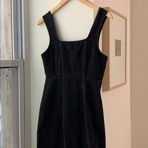 Urban Outfitters Dresses - Urban Outfitters Black Denim Button Up Mini Dress